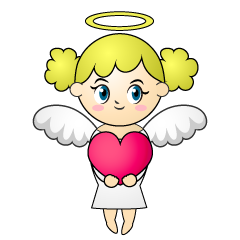 Angel with Heart Cartoon