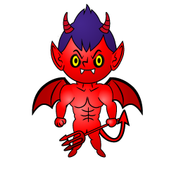 Child Devil Cartoon