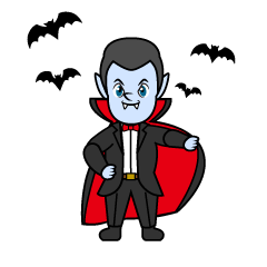 Bats and Dracula Cartoon