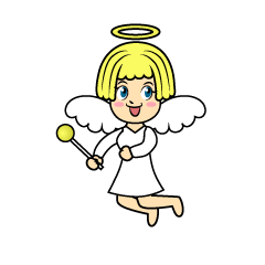 Angel in Wings Cartoon