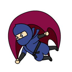 Flying Ninja Cartoon
