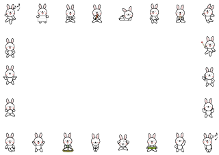 Rabbit Cartoon Border
