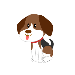 Cute Beagle Dog Clipart