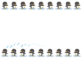 Cute Penguins Border