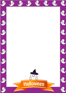Cute Ghost Portrait Border