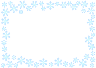 Light Blue Snowflake Frame