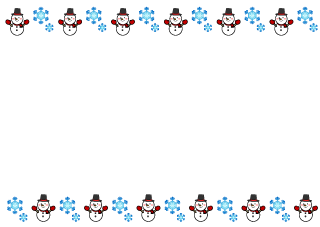 Snowflake and Snowman Border