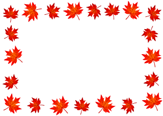 Red Autumn Leaves Border