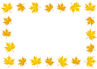 Yellow Autumn Leaves Border