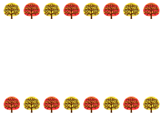Autumn Trees Border