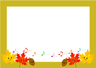 Singing Autumn Leaves Border