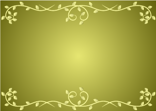 Vine Border on Gold