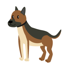 Cute Shepherd Dog Clipart