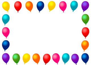 Colorful Balloon Border