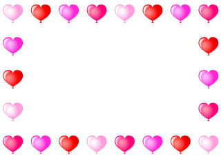 Heart Balloon Border