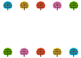 Colorful Trees Border