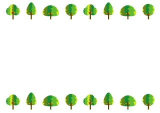 Cute Trees Border