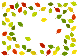 Colorful Fallen Leaves Border