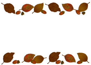 Acorns and Fallen Leaves Border