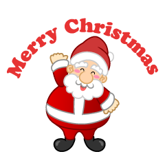Santa and Merry Christmas Clipart