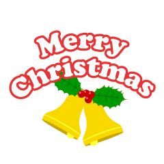 Bell and Merry Christmas Clipart