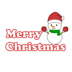 Snowman and Merry Christmas Clipart