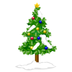 Christmas Tree and Snow Clipart