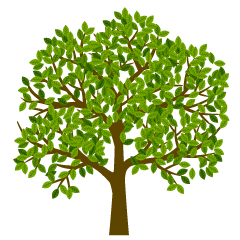 Many Leaves Tree Clipart