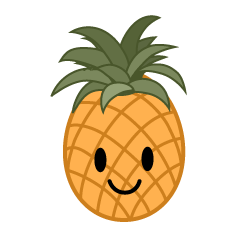 Cute Pineapple Clipart