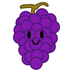 Cute Grape Clipart