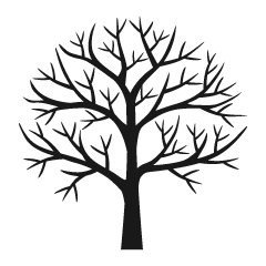 Branch Tree Silhouette