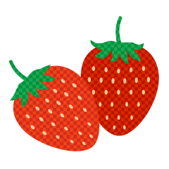 Strawberries Plaid Clipart