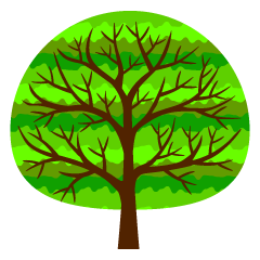 Cute Green Tree Clipart