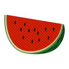 Cut Watermelon Plaid Clipart