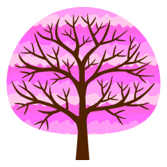 Cute Pink Tree Clipart