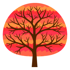Cute Red Tree Clipart