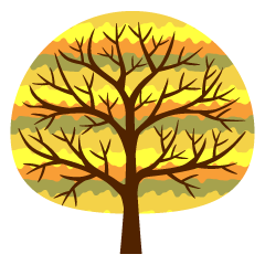 Cute Yellow Tree Clipart