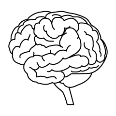 Black and White Brain Clipart