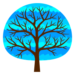 Cute Blue Tree Clipart
