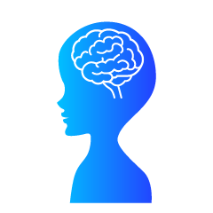 Brain and Human Silhouette Clipart