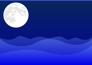 Moon and Ocean Background