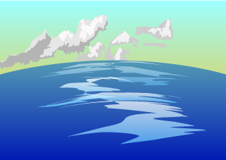 Cloud and Ocean Background
