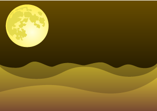 Night Desert Background