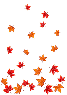 Falling Red Leaves Background