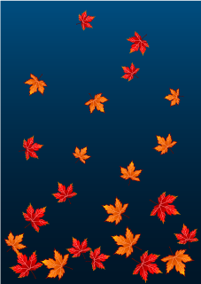 Falling Leaves at Night Background