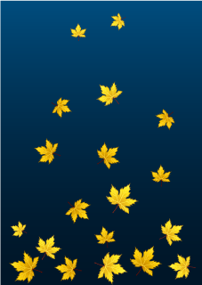 Yellow Leaves at Night Background