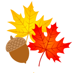 Maple Leaves and Acorn Clipart