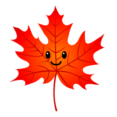 Cute Red Maple Leaf Clipart