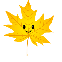 Cute Yellow Maple Leaf Clipart