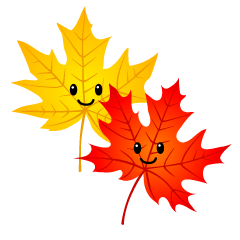 Red and Yellow Cute Maple Leaves